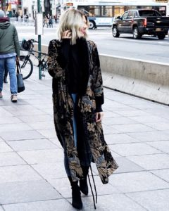 LOVED this faux furvelvet kimono the moment I laid eyeshellip